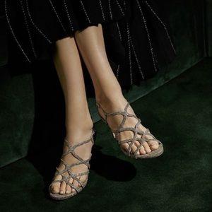 🆕 Stuart Weitzman silver strappy sandal heels